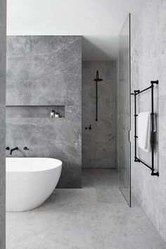 bathroom Ideas for a Minimalist Bathroom Design– Are you and your bathroom the right candidates for a sleek minimalist setting?Ideas for a Minimalist Bathroom Design– Are you and your bathroom the right candidates for a sleek minimalist setting? Hotel Bathroom Design, Modern Bathroom Design, Bathroom Renovations, Bath Design, Remodel Bathroom, Modern Design, Modern Luxury Bathroom, Toilet Design, Bathroom Makeovers