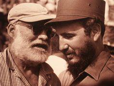 Eernest Hemingway and Fidel Castro, Cuba, c. 1959.