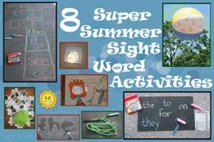 Summer ideas for learning and practicing sight words.