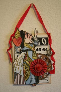 Alice in Wonderland Red Queen Altered by MyEclecticWonderland, $14.95