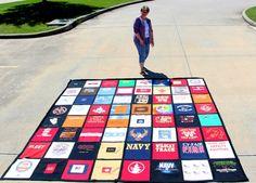 Tshirt quilt - 125 x 125