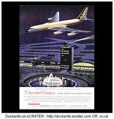 Convair 880 & 600 Jet-Liners Advert. From Interavia Magazine, 1959,