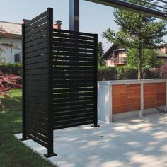 Outdoor Privacy Panels, Patio Privacy Screen, Privacy Fence Designs, Fence Wall Design, Decks With Privacy Walls, Screen Porch Kits, Patio Wall, Backyard Patio, Backyard Landscaping