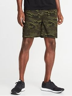 Go-Dry Stretch Run Shorts for Men - oldNavy Mens Activewear, Shop Old Navy, Camo Print, Patterned Shorts, Active Wear, Running, Fashion, Moda, Printed Shorts