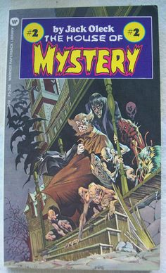 Vintage 1973 1st Printing THE HOUSE OF MYSTERY #2 By Jack Oleck / Like New