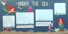 12x12 double page scrapbook layout Disneys Ariel the Little Mermaid via Etsy