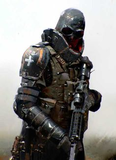 Likes, 22 Comments - Cyberpunk Armor Concept, Concept Art, Character Concept, Character Art, Nail Bat, Jama Jurabaev, Army Of Two, Futuristic Armour, Sci Fi Armor