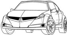 Cars Acura Sport Coloring Page