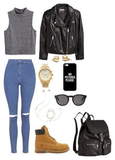 """Polyvore Style"" by jesy-smith on Polyvore featuring mode, Topshop, H&M, Timberland, Michael Kors, Casetify, Molami et Monki"