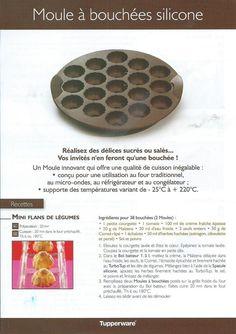 Fiche recettes Moule silicone à bouchées