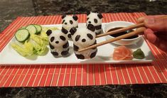 #Sushi en forma de #panda