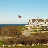 A home  site right on the water's edge, high above the bluffs, provides panoramic  views   of the Atlantic Ocean for this cottage. Named Clinton  Cottage  after former President  Bill Clinton's 1996 visit, the Block Island, R.I., house has been completely renovated.  | HGTV FrontDoor