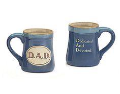 DAD Dedicated And Devoted Acronym Porcelain 18 Oz Coffee Mug Fathers Day Gift #burtonBURTON