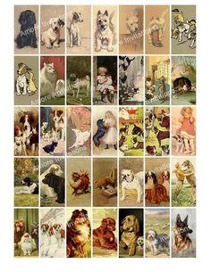 Clip Art, Scrapbook, Vintage Dog, Collage Sheet, Digital Collage, Making Ideas, Etsy Seller, Printable Vintage
