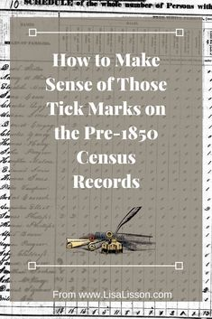 How to Make Sense of Those Tick Marks on Census Records - Census Records Part 2 Researching your ancestors in the census records presents unique challenges. You can make sense of those tick marks and find your ancestors! Genealogy Websites, Genealogy Forms, Genealogy Search, Genealogy Chart, Family Genealogy, Genealogy Humor, Lds Genealogy, Family Tree Research, Genealogy Organization