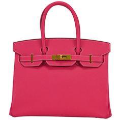 2014 HERMES Birkin Bag 30cm Pink Gold Hardware