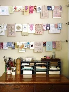 display your greeting cards or things that you like in a cute way :)