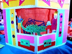 Cute, yet simple DIY Puppet Show board and puppets.