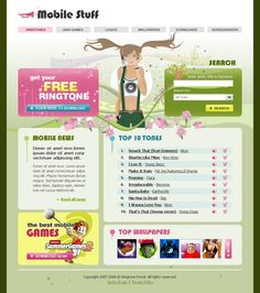 Mobile Stuff Website Templates by Matrix