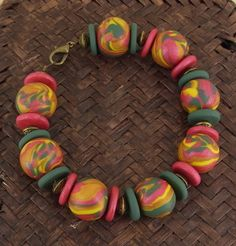 premo! Marbled Bead Bracelet