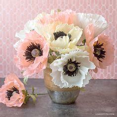 Crepe Paper Oriental Poppies (Video)