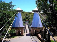 The 'Hanging' Bridge 'inspired' by the Brooklyn Bridge, Santa Fe de Antioquia, Colombia.