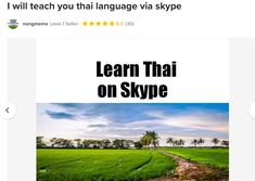 Fiverr freelancer will provide Online Language Lessons services and teach you thai language via skype within 2 days Thai Alphabet, Learn Thai, Language Lessons, Neutral, Students, Knowledge, Profile, Teaching, User Profile