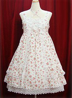 Baby the Stars Shine Bright / Jumper Skirt / Rococo Rose Print Babydoll JSK