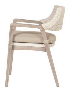 "Dimensions: W:22"" D:24"" H:31.5 Seat height: 18"" Arm height: 25"" Removable upholstered seat cushion All-weather fabric cushion Please allow 2-3 weeks"