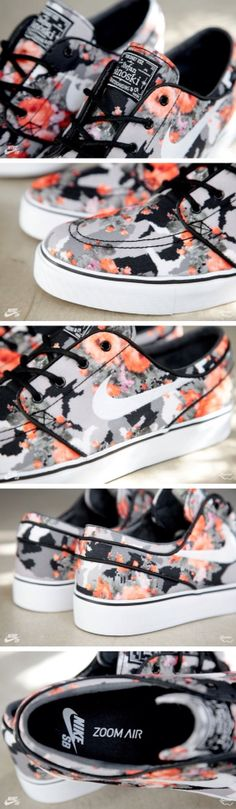 "45bd320d7a3 For the love of Nike someone just buy me a paid of Janoski s.     Nike SB  Janoski ""Floral Mandarin Camo"" (Release Info   Detailed) NEED THESE!"