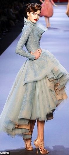 Christian Dior. I really want a wedding dress in these colours! Love Dior.