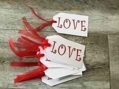 Amor etiquetas de boda de San Valentín | Etsy