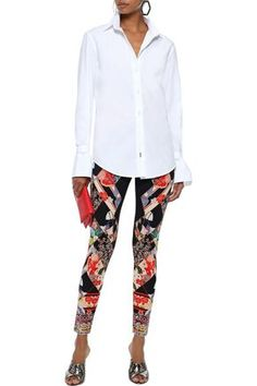 CAMILLA CAMILLA WOMAN CRYSTAL-EMBELLISHED STRETCH-MODAL LEGGINGS MULTICOLOR. #camilla #cloth Camilla Clothing, Printed Leggings, World Of Fashion, Luxury Branding, Pajama Pants, Collection, Shopping, Women, Style