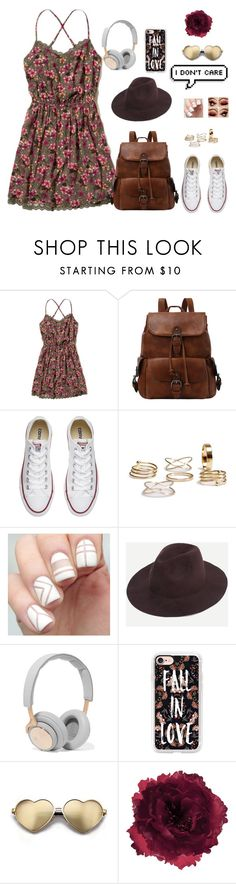 """And he will raise you up on eagles wings"" by lovelywonderstruck13 ❤ liked on Polyvore featuring Hollister Co., Converse, B&O Play, Casetify, Wildfox, Accessorize and vintage"