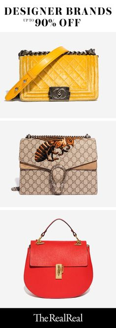 The RealReal is the leading authenticated luxury consignment shop. From coveted Manolo Blahnik pumps to handbags by Chanel, Louis Vuitton and more, it is your go-to source for designer finds at up to 90% off retail. Each item is fully authenticated by our team of in-house experts, and thousands of new items are added to the site daily. Our collections feature every style, color and size, but items sell fast! Sign up and shop now to snag the designer pieces you have been waiting for!