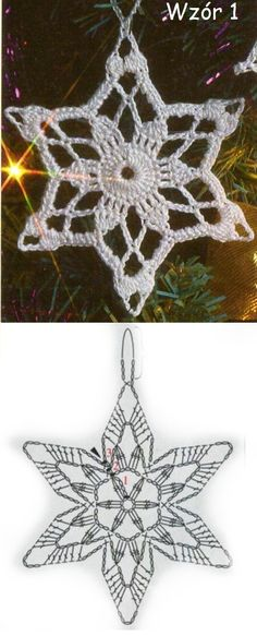 Crochet Snowflake Pattern, Crochet Snowflakes, Crochet Motif, Knit Crochet, Crochet Patterns, Victorian Christmas Ornaments, Crocheting, Crochet Necklace, Knitting