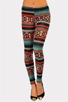 Mexico Tribal Print Legging - Multi