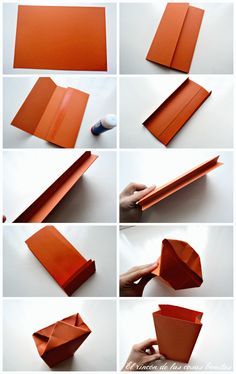 The corner of beautiful things - The corner of beautiful things - Diy Paper Bag, Paper Crafts, Gift Wraping, Diy Gift Box, Diy Crafts For Gifts, Origami Art, Natural Cleaning Products, Diy Birthday, Metal Clock