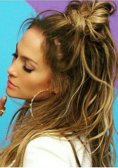 Jlo Hairstyles Amazing Best Of The Week Top Knots Braids And More  Knotted Braid Makeup