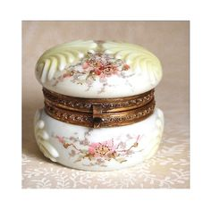 Wave Crest Jewelry Box Antique Victorian Bath & Beauty Home Decor Collectibles Boho Botanical Chic Ormolu Dresser Box Gift for Her c1895 on Etsy, € 95,92
