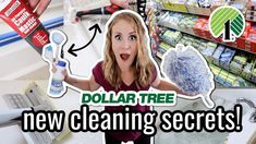 EXTREME $1 DOLLAR TREE CLEANING SECRETS! 😱 *NEW* pro tricks to clean your bathroom FAST! - YouTube Cleaning My Room, Green Cleaning, House Cleaning Tips, Diy Cleaning Products, Cleaning Solutions, Cleaning Hacks, Homemade Products, Dollar Tree Decor, Amazing Life Hacks