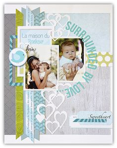 #papercraft #scrapbook #layout    Anya scrap