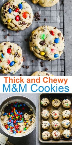 Soft and chewy M&M Cookies are a classic recipe that deserves a place in every recipe box. via Soft and chewy M&M Cookies are a classic recipe that deserves a place in every recipe box. M M Cookies, Yummy Cookies, Chip Cookies, Cookies Et Biscuits, Cookies Soft, Orange Cookies, Sandwich Cookies, Pudding Cookies, Candy Cookies