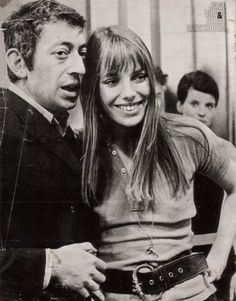 """Everything I wear doesn't put me in the league of women. If I were a boy, I could look a lot prettier than a lot of boys I know"" Serge Gainsbourg, Gainsbourg Birkin, Style Jane Birkin, Actor Studio, Provocateur, French Girls, Beautiful Couple, Hippie Style, Vintage Images"