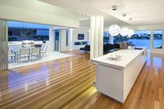 Kitchen timber flooring