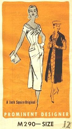 Prominent designer sewing pattern Jack Squire M290