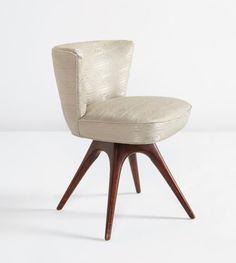 PHILLIPS : NY050114, Vladimir Kagan, Swivel boudoir chair