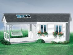 Garden Shed Plan, 072S-0001