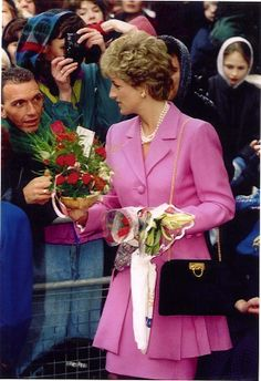 February 14, 1994: Princess Diana arriving to open a newly refurbished wing at…