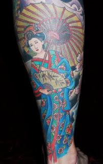 Calf Japanese Tattoos With Image Japanese Geisha Tattoo Designs Especially Calf Japanese Geisha Tattoo Gallery Picture 7